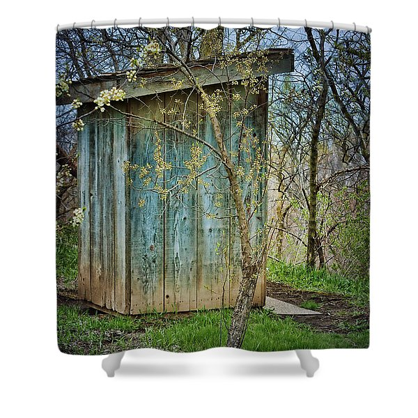 Outhouse In Spring Shower Curtain