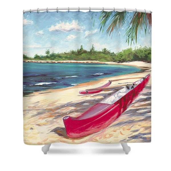 Outrigger - Haleiwa Shower Curtain