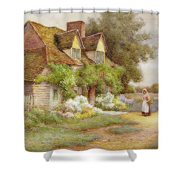 Outside The Cottage  Shower Curtain