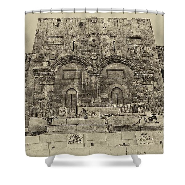 Outside The Eastern Gate Old City Jerusalem Shower Curtain