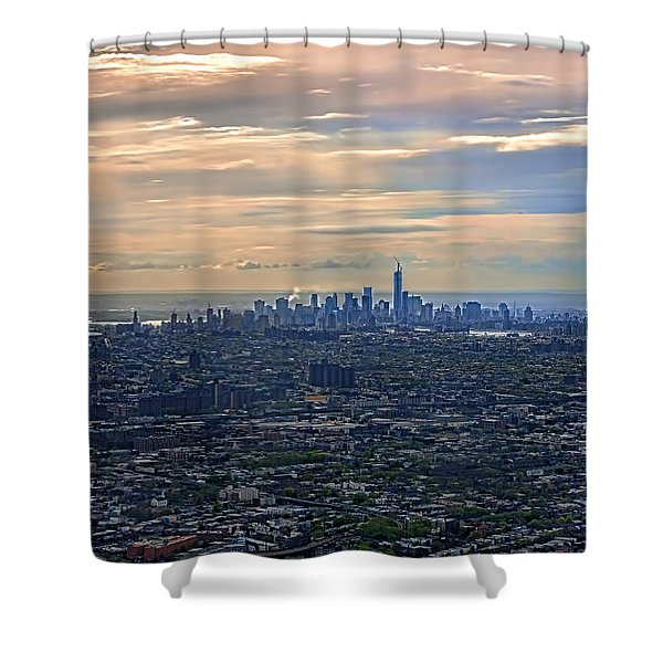 Over East New York Shower Curtain