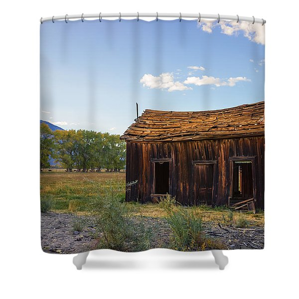 Owens Valley Shack Shower Curtain