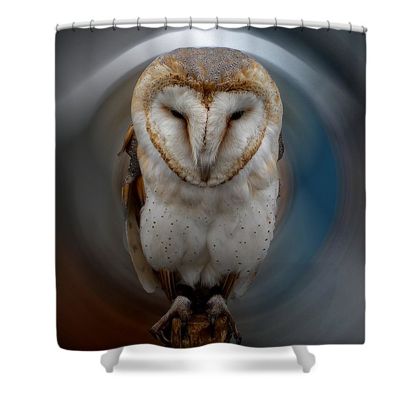 Owl Alba  Spain  Shower Curtain