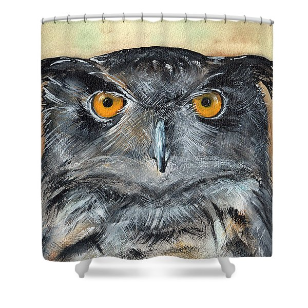 Owl Series - Owl 1 Shower Curtain