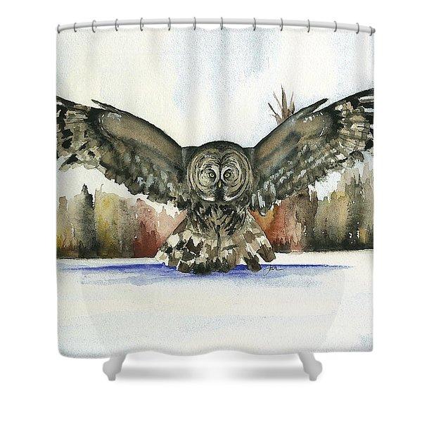 Owl Series - Owl 13 Shower Curtain