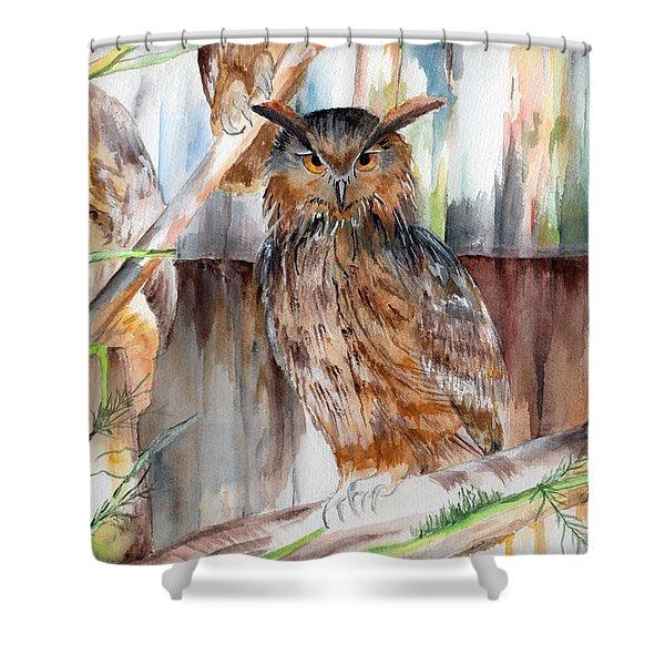 Owl Series - Owl 2 Shower Curtain