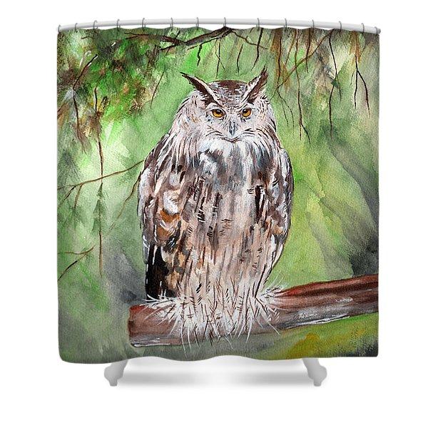 Owl Series - Owl 7 Shower Curtain