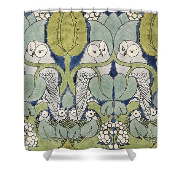 Owls, 1913 Shower Curtain