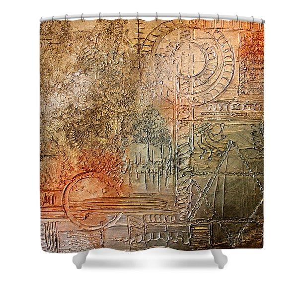 Oxidization Sacred Geometry Shower Curtain
