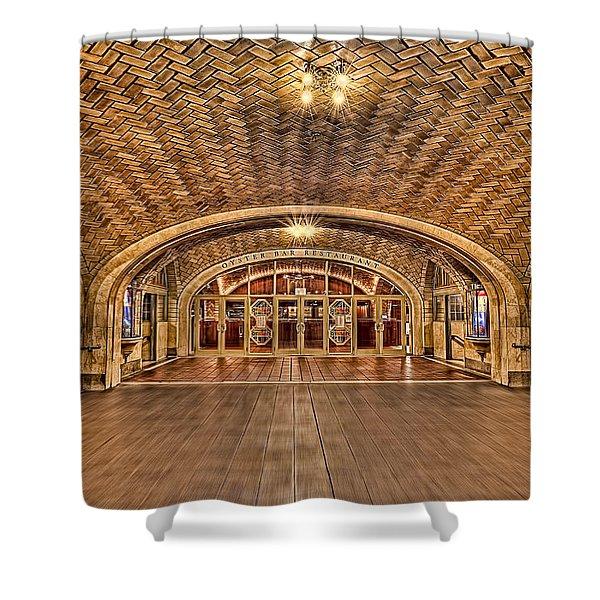 Oyster Bar Restaurant Shower Curtain