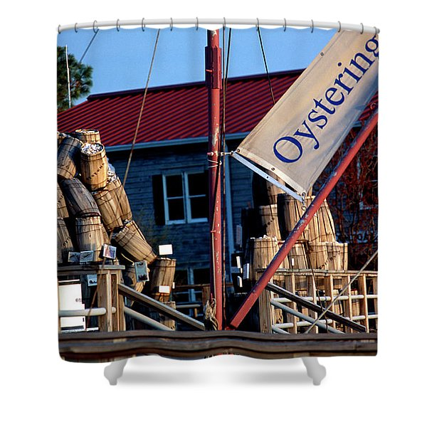 Oystering History At The Maritime Museum In Saint Michaels Maryland Shower Curtain