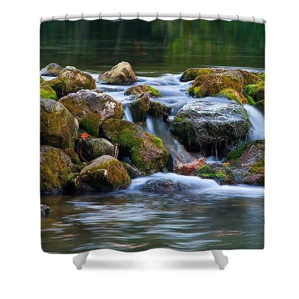 Ozark Waterfall Shower Curtain