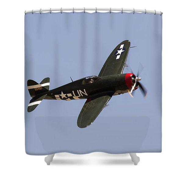 P-47 Thunderbolt Shower Curtain
