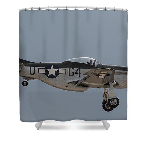 P-51 Landing Configuration Shower Curtain