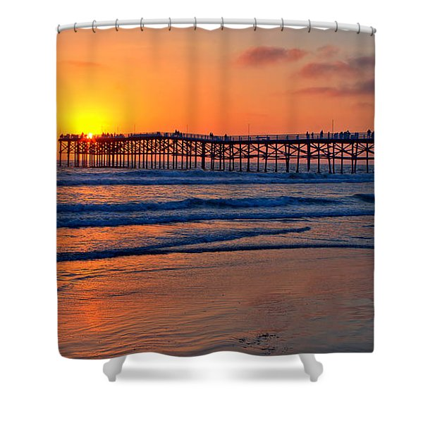Pacific Beach Pier - Ex Lrg - Widescreen Shower Curtain