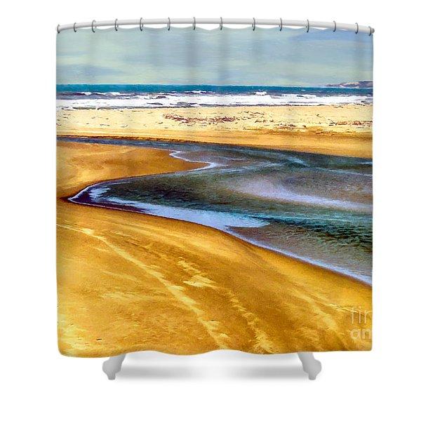Pacific Ocean Beach Santa Barbara Shower Curtain