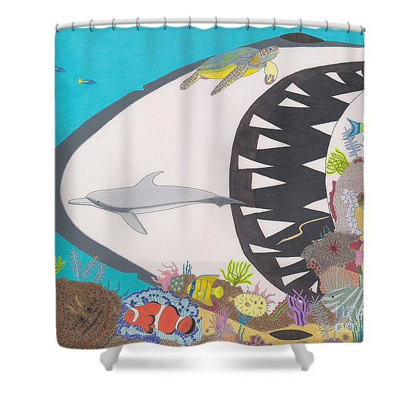 Pacific Peril Shower Curtain