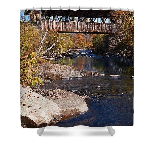 Packard Hill Bridge Lebanon New Hampshire Shower Curtain