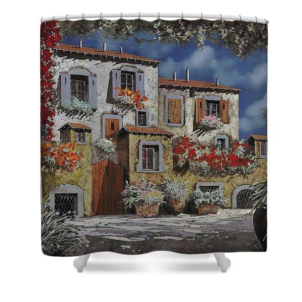 Paesaggio Al Chiar Di Luna Shower Curtain