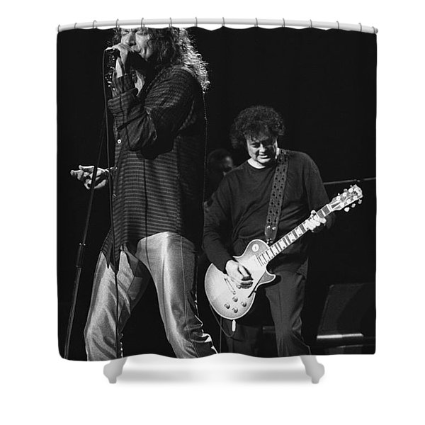 Page And Plant Shower Curtain
