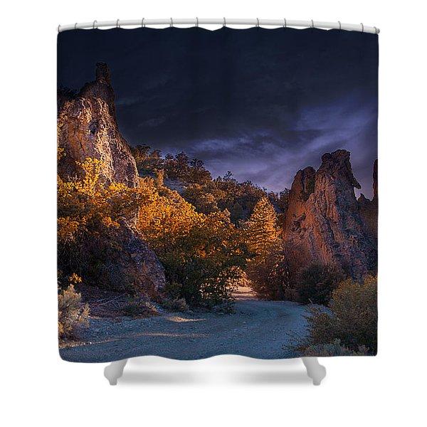 Shower Curtain featuring the photograph Pahrump - Road To Wheeler Peak by Gunter Nezhoda