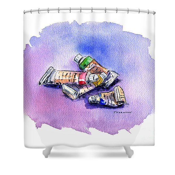 Paint Tubes Shower Curtain