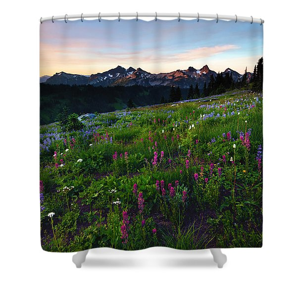 Paintbrush Sunrise Shower Curtain