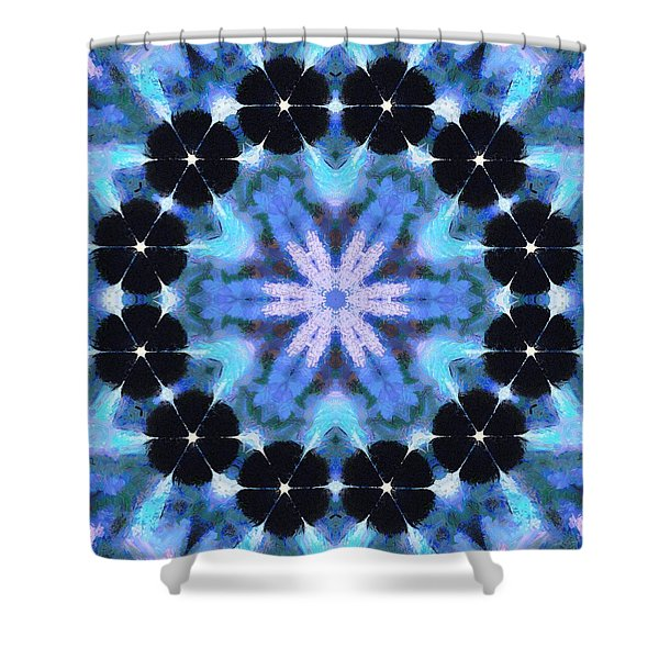 Painted Cymatics 108.00hz Shower Curtain