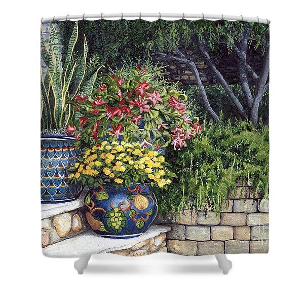 Painted Pots Shower Curtain