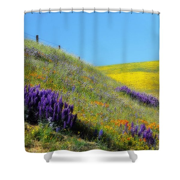 Painted With Wildflowers Shower Curtain