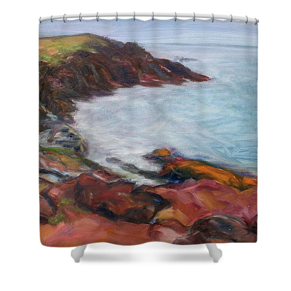 Painterly - Bold Seascape Shower Curtain