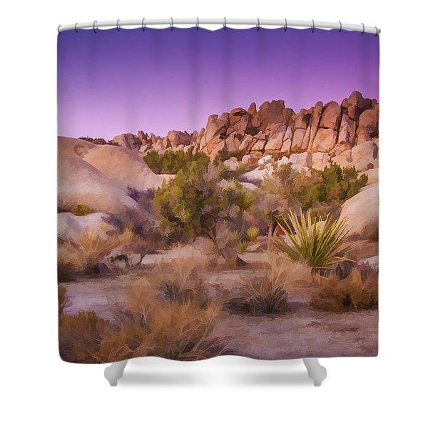 Painterly Desert Shower Curtain