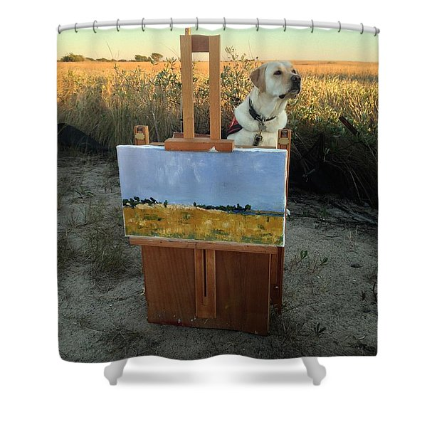 Come Paint With Me  Shower Curtain