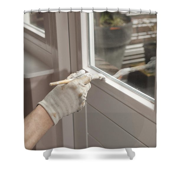 Painting A Door Shower Curtain