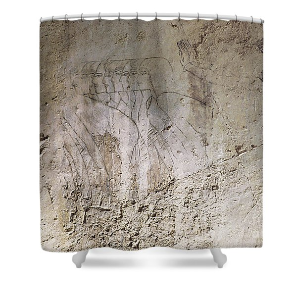 Painting West Wall Tomb Of Ramose T55 - Stock Image - Fine Art Print - Ancient Egypt Shower Curtain