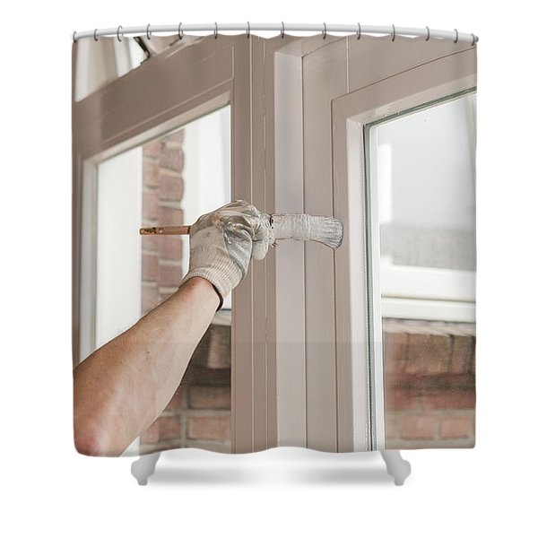 Painting Wood Shower Curtain