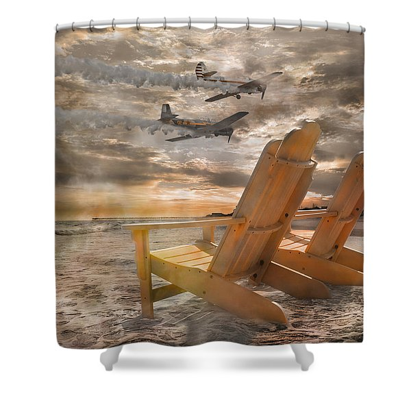 Pairs Along The Coast Shower Curtain