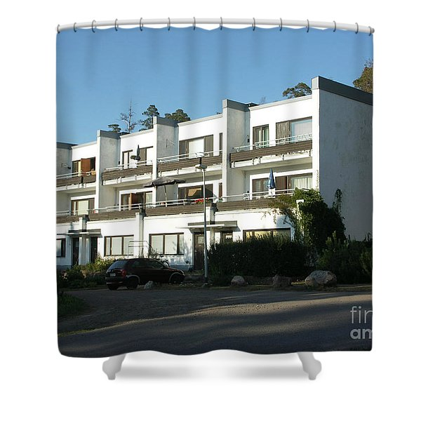 Paivola Building In Sunila Shower Curtain