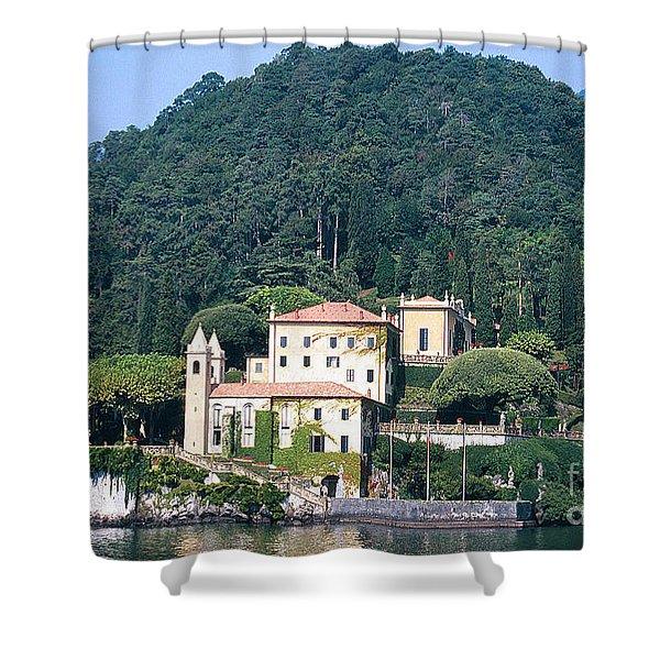 Palace At Lake Como Italy Shower Curtain