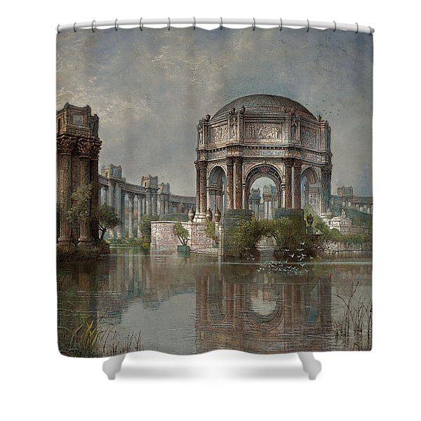 Palace Of Fine Arts And The Lagoon Shower Curtain