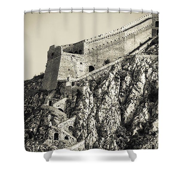 Palamidi Fortress Stairs Shower Curtain