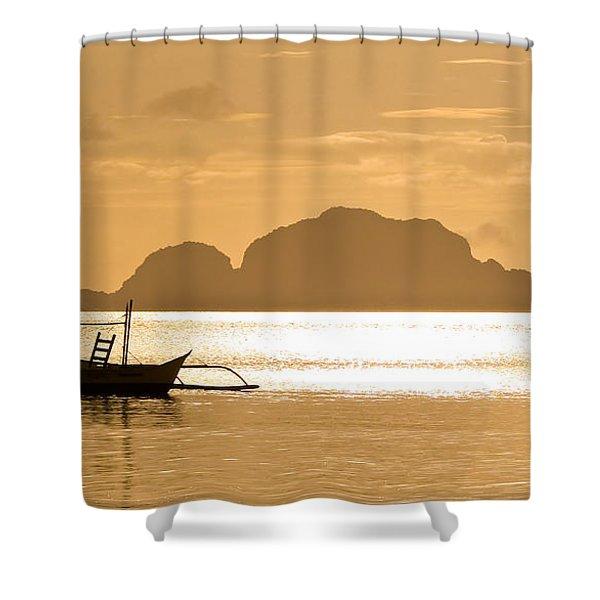 Palawan Sunset Shower Curtain