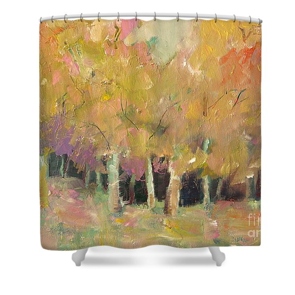 Pale Forest Shower Curtain