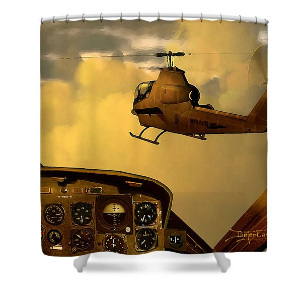 Palette Of The Aviator Shower Curtain