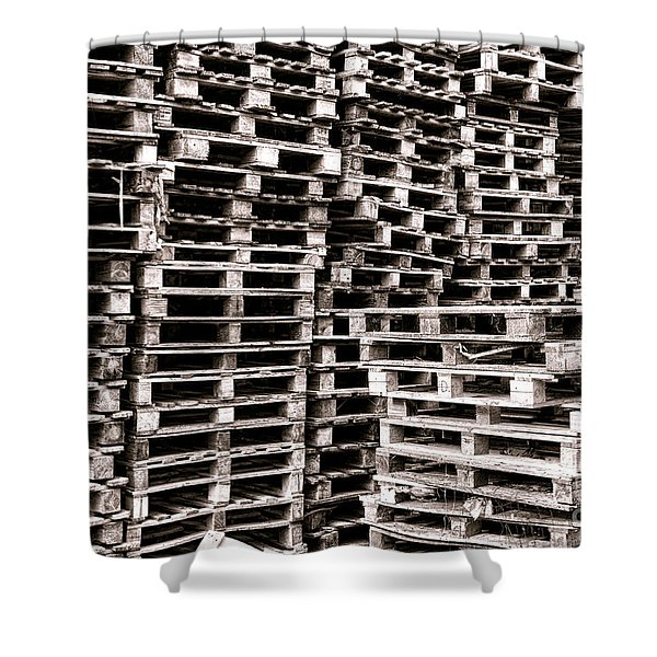 Pallets  Shower Curtain