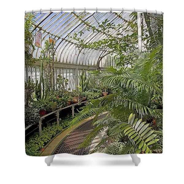 Palm House Belfast Ireland Shower Curtain