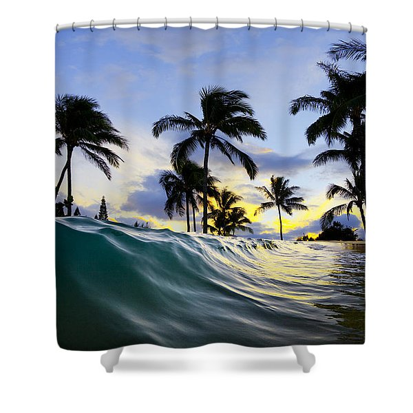 Palm Wave Shower Curtain