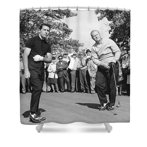 Palmer, Player And Nicklaus Shower Curtain