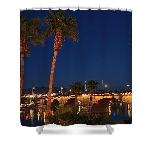 Palms At London Bridge Shower Curtain