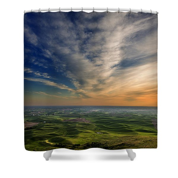 Shower Curtain featuring the photograph Palouse Sunset by Mary Jo Allen